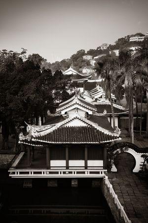 Shu Zhuang Garden with traditional Chinese architecture in Gulangyu, Xiamen, Fujian, China. 스톡 콘텐츠 - 127361130