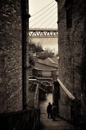 Xiahao Old street in Chongqing, China. 스톡 콘텐츠