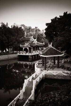 Shu Zhuang Garden with traditional Chinese architecture in Gulangyu, Xiamen, Fujian, China.