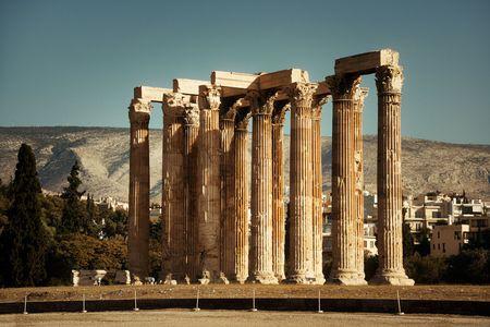 Temple of Zeus in Athens, Greece. Stock Photo
