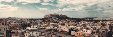 Athens skyline rooftop view panorama, Greece. Stock Photo