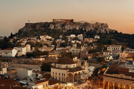 Athens skyline rooftop view, Greece. 스톡 콘텐츠 - 127361100