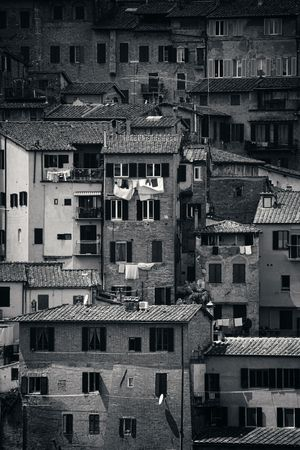 Old building background from Siena, Italy.