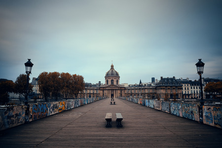 Pont des Arts and River Seine in Paris, France.