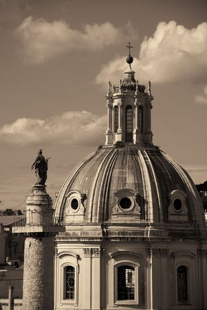 Rome Forum with ruins of historical buildings. Italy. 스톡 콘텐츠