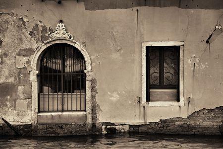 Historical building closeup in Venice. Italy. Stok Fotoğraf
