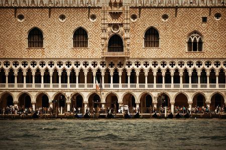 Doges Palace over water at Piazza San Marco in Venice, Italy. Editöryel