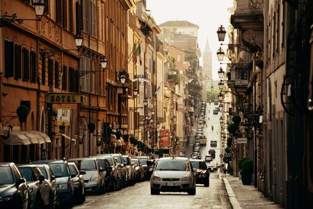 ROME - MAY 12: Street view on May 12, 2016 in Rome, Italy. Rome ranked 14th in the world, and 1st the most popular tourism attraction in Italy. Editöryel