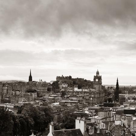 Edinburgh city skyline viewed from Calton Hill. United Kingdom. 스톡 콘텐츠 - 127360967