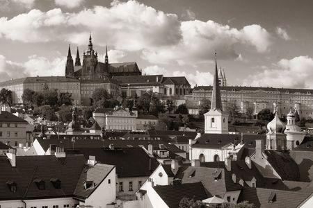 Prague Castle with Saint Vitus Cathedral in Czech Republic.