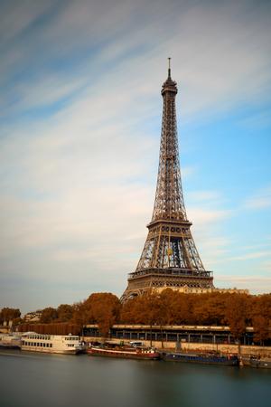 River Seine with Eiffel Tower in Paris, France. 写真素材
