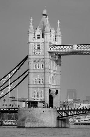 Tower Bridge closeup in London as the famous landmark.