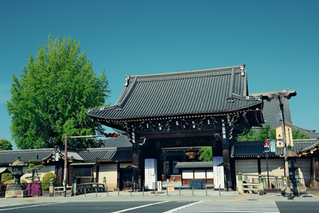 KYOTO, JAPAN - MAY 18: Old building in Shrine on May 18, 2013 in Kyoto. Former imperial capital of Japan for more than one thousand years, it has the name of City of Ten Thousand Shrines. Редакционное