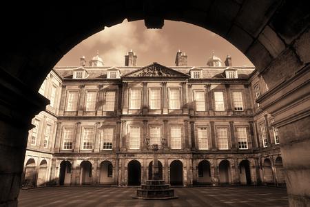 Palace of Holyroodhouse in Edinburgh United Kingdom.