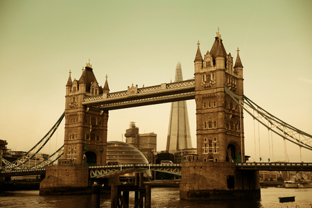 Tower Bridge over Thames River in London. Reklamní fotografie