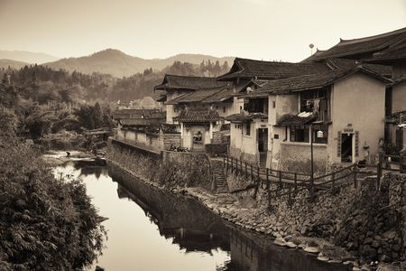 FUJIAN, CHINA – MARCH 2, 2018: Tulou is the unique traditional rural dwelling of Hakka. 스톡 콘텐츠 - 127377103