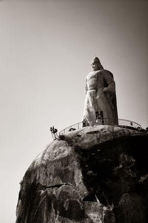 XIAMEN, CHINA – FEB 16: Zheng Chenggong statue closeup on February 26, 2018 in Xiamen. Xiamen was ranked as China's 2nd-