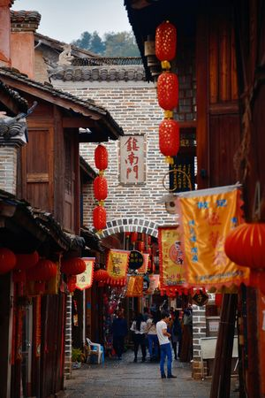 FUJIAN, CHINA – MARCH 2, 2018: Street view with historic architecture in Changting city in Fujian, China. 新闻类图片