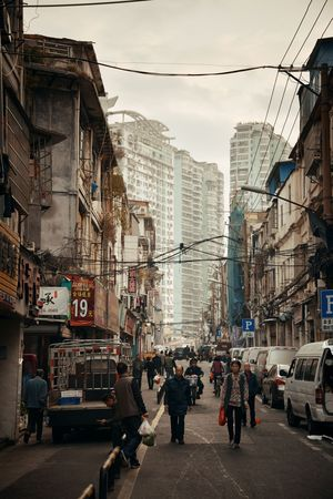 XIAMEN, CHINA – FEB 16: Street view on February 26, 2018 in Xiamen. Xiamen was ranked as Chinas 2nd-most suitable city for living Editöryel