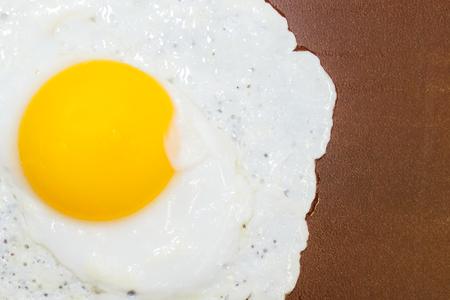 duck egg: Cooked Duck egg on Slate