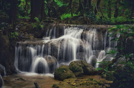 Kroengkrawia Waterfall , Khaolaem National Park , kanchanaburi , Thailand
