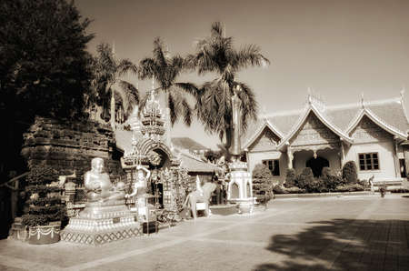 Temple at Wat si Muang Buddhist monastery in Vientiane, Laos
