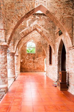pattani thailand: Corredor de Krue Se Mezquita Musjid, Pattani, Tailandia