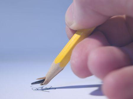 Concept image of a broken pencil