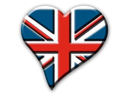Heart shaped Union Jack embossed image