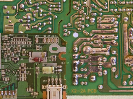 Close up shot of printed circuit boards