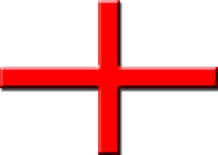 Embossed depiction of the English flag. Good background