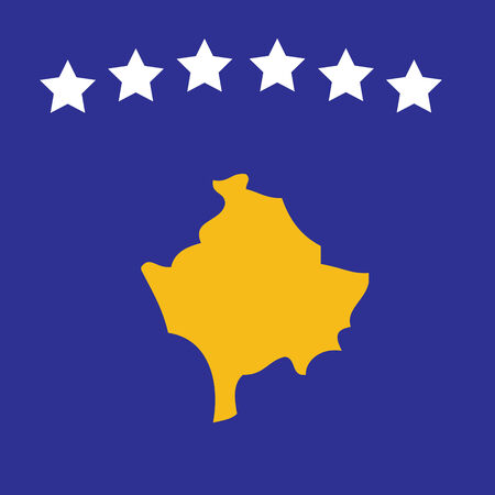 Vector image of the new Kosovan flag Illustration