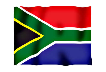 Rippled image of the South African flag