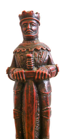 Close up of a red king chess piece Stock Photo