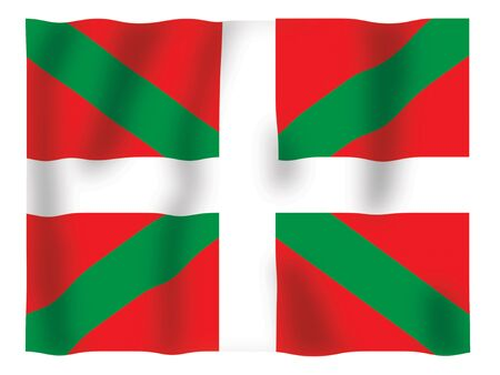 Fluttering image of the Basque flag Stock Photo