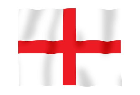 Fluttering image of the English national flag Stock Photo