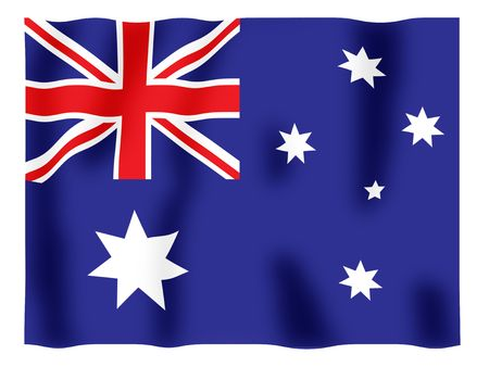 Fluttering image of the Australian national flag Stock Photo - 2606620