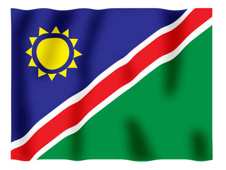 Fluttering image of the Namibian national flag Stock Photo - 2606619