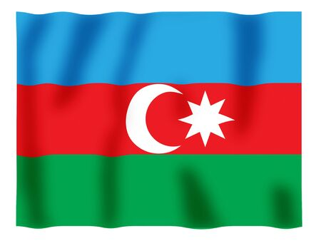 Fluttering image of the Azerbaijan national flag Stock Photo - 2613799
