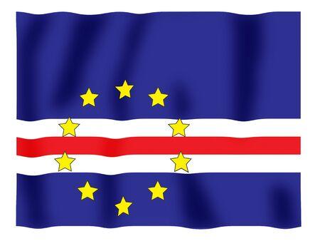 Fluttering image of the Cape Verdi national flag Stock Photo - 2614448