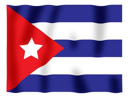 Fluttering image of the Cuban national flag