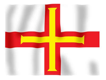 Fluttering image of the Guernsey provincial flag