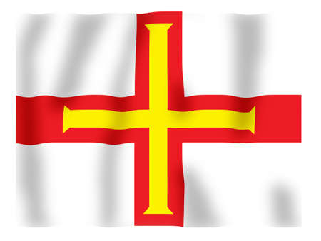 Fluttering image of the Guernsey provincial flag photo