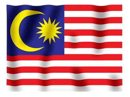 Fluttering image of the Malaysian national flag