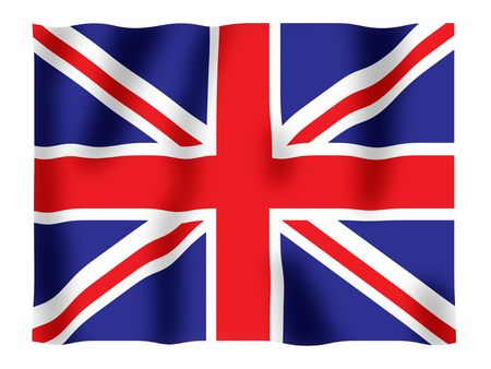 Fluttering image of the British national flag