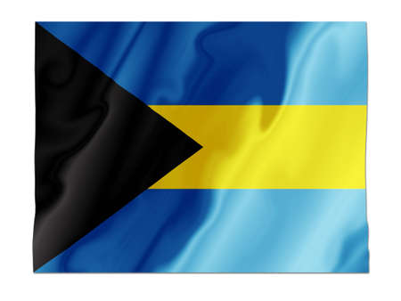 Fluttering image of the Bahamas national flag Stock Photo - 2626058