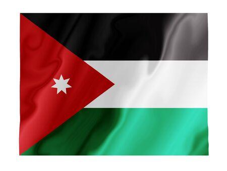 Fluttering image of the Jordanian national flag