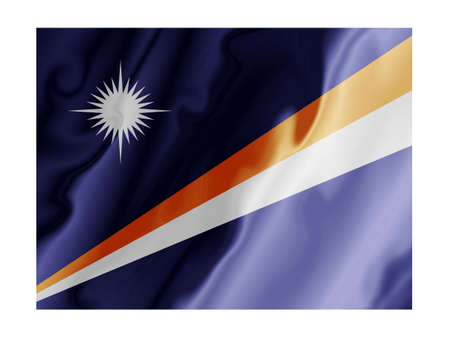 Fluttering image of the Marshall Islands provincial flag  Stock Photo