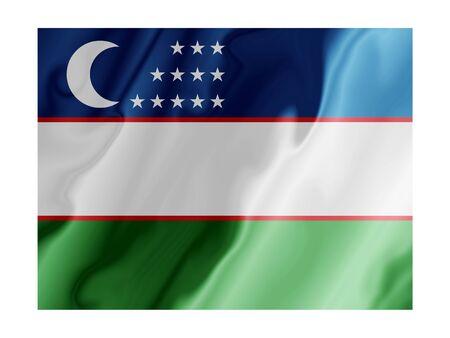 Fluttering image of the Uzbekistan national flag Stock Photo - 2626066