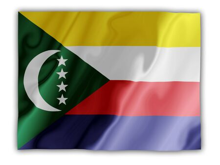 Fluttering image of the Comoros national flag Stock Photo - 2626068